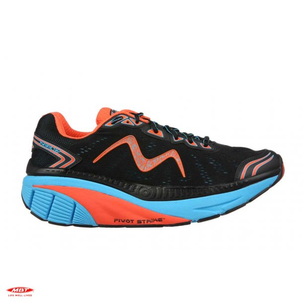 MBT CUSHIONING løbesko ZEE 17 M Black Blue-Red, herre