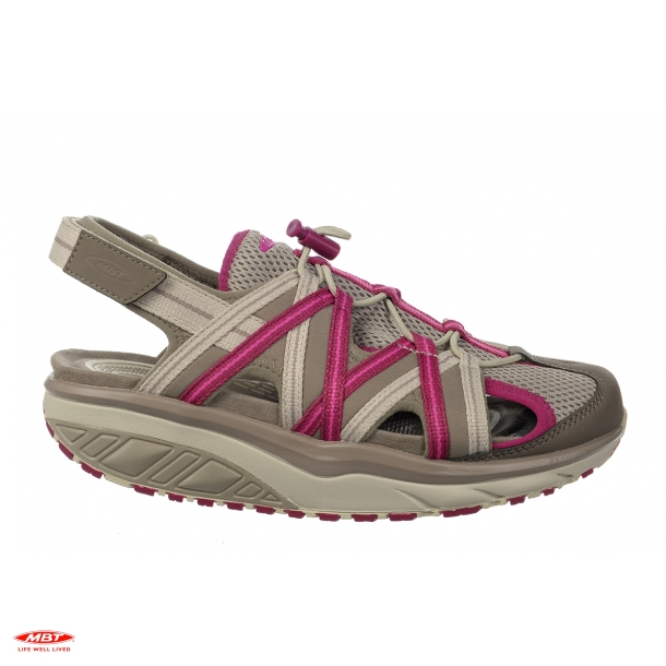 MBT sandal JASIRA 6 CLAY GRAY/RED VIOLET