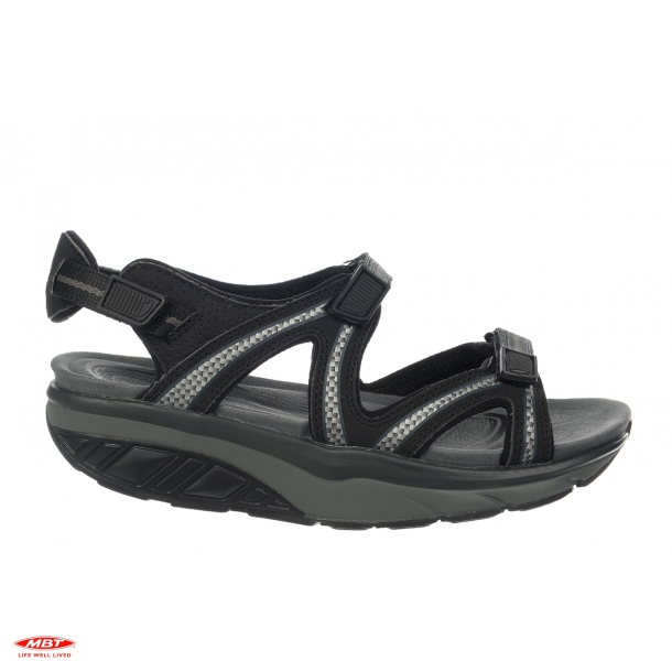 MBT sandal LILA 6 BLACK/CHARCOAL GRAY