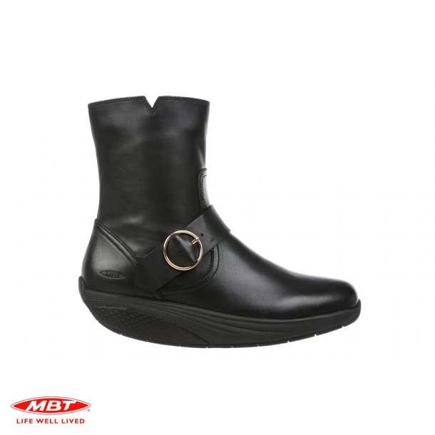 MBT MAGEE Mid Black, kort damestøvle
