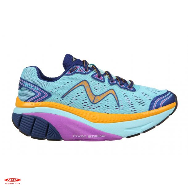 MBT CUSHIONING løbesko ZEE 17 W Baby Blue-Purple Navy-Orange, dame